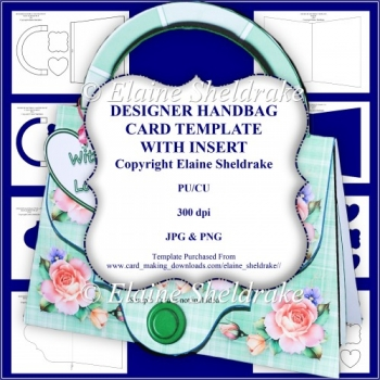 Designer Handbag Card Template With Insert - CU/PU