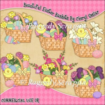 clip art easter basket images. Beautiful Easter Baskets Clip