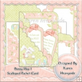 Bunny Hop 1 Scalloped Pocket Card