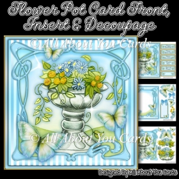 Flower Pot Card Front & Insert