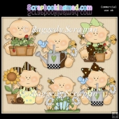 Just Babies Garden ClipArt Graphic Collection