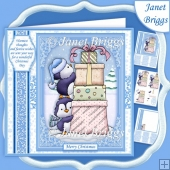PENGUINS CHRISTMAS TOWER 7.5 Decoupage & Insert Mini Kit