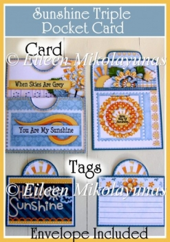 FREE Sunshine Triple Pocket Card with Envelope and Tags