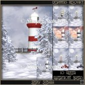 Designer Resource 10 Winter Waterfront Papers