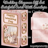Wedding Elegance Off Set Gatefold Card With Envelope