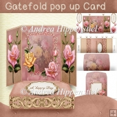 Gatefold pop up Card Rose