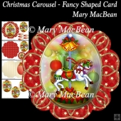 Christmas Carousel - Fancy Shaped Card