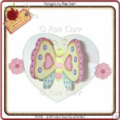 210 Butterfly Flutter Wings Card *MACHINE Formats*