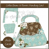 Coffee Beans & Flowers Handbag Card