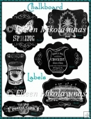 Home Matters Chalkboard Labels for Cards, Tags, Crafts