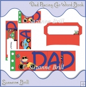 Dad Racing Car Word Book