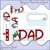 Christmas Penguin Dad Word Book