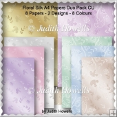Floral Silk A4 Papers Duo Pack CU