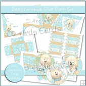 Beary Christmas Silver Party Set