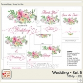 Floral Watercolor Wedding Invitation Set 5