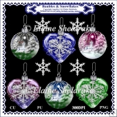 Christmas Baubles & Snowflakes - Designer Resource