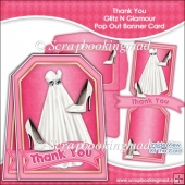 Thank You Glitz N Glamour Pop Out Banner Card