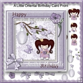 A Little Oriental Birthday Card Front