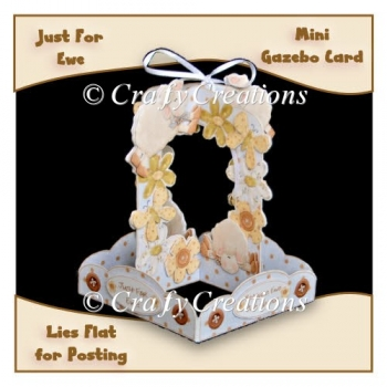 Just For Ewe Mini Gazebo Card