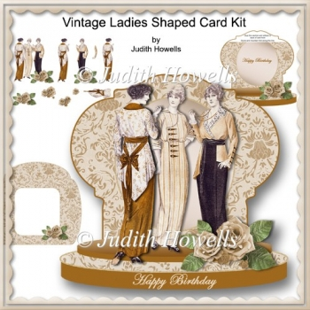 Vintage Ladies Shaped Card Kit