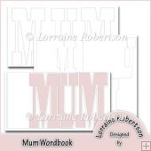 Mum Word book Template Personal Use