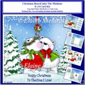 8x8 Christmas Bears Under The Mistletoe Card Kit & Ass Greetings