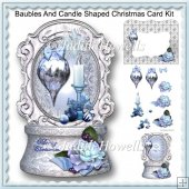 Baubles And Candle Shaped Christmas Card Kit