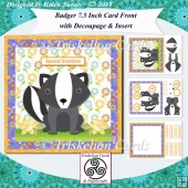 Badger 7.5 Inch Card Front Decoupage, Insert & Various Tiles