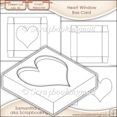 Window Box Card Heart Window Template Commercial Use OK
