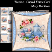 Teatime - Curved Frame Card