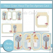 Home Sweet Home Pop Out Aperture Card