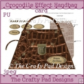 Crocodile Effect Handbag Card