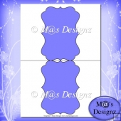 Bracket Shaped Card Template 2