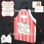 I Love To Cook - Shaped Cut & Fold Apron Card & Insert & Verse