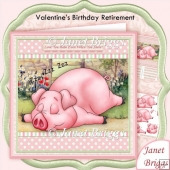Snoring Babe Valentine's Birthday Retirement 8x8 Decoupage Kit