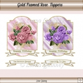 Gold Framed Rose Toppers