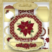 Frame easel card set 5 Christmas