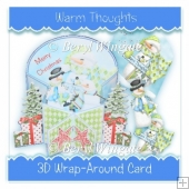 Warm Thoughts 3d Wrap-Around Card