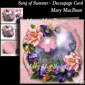 Song of Summer - Decoupage Card