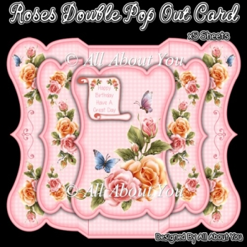 Roses Double Pop Out Card