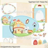 Eggshape Card Hoppy Day