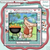 BARBEQUE BEAR 7.5 Decoupage & Insert Kit