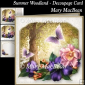 Summer Woodland - Decoupage Card