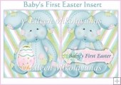 Baby's First Easter Card Insert