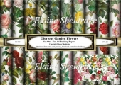Glorious Garden Rose Flowers Set One - Ten A4 Backing Papers