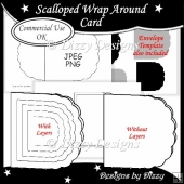 Scalloped Wrap Around Card Template Commercial Use OK
