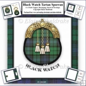 Black Watch Tartan Sporran Card Kit