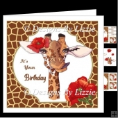 Poppy The Giraffe Birthday Card Mini Kit