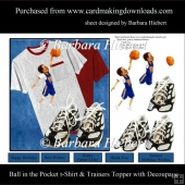 Ball in the pocket T-Shirt Topper with Decoupage