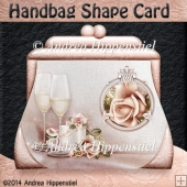 Handbag Shape Card wedding 2